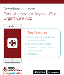 central jersey our app at central jersey urgent care in somerset nj