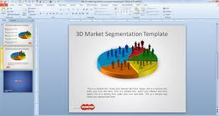 free 3d market segmentation powerpoint template free powerpoint