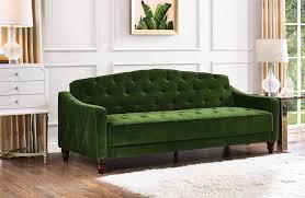 slipcovers for sofa sleepers novogratz vintage tufted sofa sleeper review popsugar home