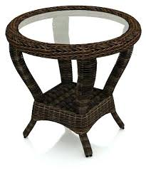 side table outdoor wicker side table with umbrella hole round