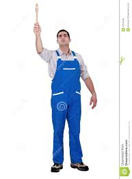 paint man man with paint brush stock photo image of holding coverage