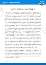 Sample Letter Of Intent For Nursing Program by Best Nursing Personal Statement Examples Residency