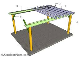 Pergola Plans Free Download by 12x16 Pergola Plans Myoutdoorplans Free Woodworking Plans And