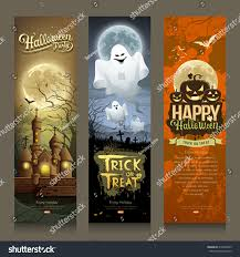 Happy Halloween Banners by Happy Halloween Day Collections Banner Vertical Stock Vector