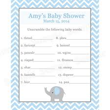 Free Baby Shower Scramble Games - magickalideas com