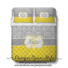 Monogrammed Comforters Custom Polka Dot And Damask Monogrammed Comforter Or Duvet Light