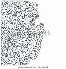 design template swirls pattern vector illustration stock vector