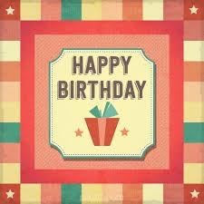 ai retro happy birthday card vector free download pikoff