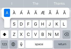 how to type accents on the iphone keyboard