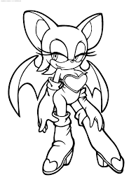 sonic the hedgehog coloring page printable bat coloring pages coloringstar