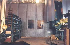 Sound Barrier Curtain Noise From Punch Press Area Reduced By Over 15 Db With Curtain System