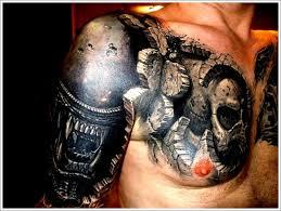 skull biomechanical tattoo design for men biomechanical tattoo