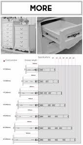 ds 4715 cabinet hardware tendem box metal box drawer slide