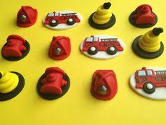 firefighter cupcake toppers fondant truck cupcake topper firefighter by ediblesugarart