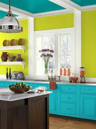 eccentric lime walls tropical teal ceiling cloud cover trim and