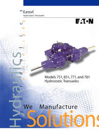 eaton 750 850 specs axle transmission mechanics