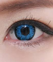 geo sf 18 crazy lens abyss blue eye halloween contact lens