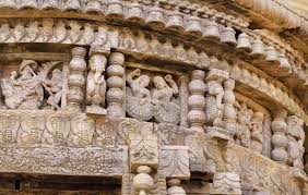 of traditional indian carved hindu temple ancient