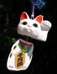 lucky wind chime lucky cat maneki neko