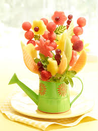 flower fruit watermelon board flower vase