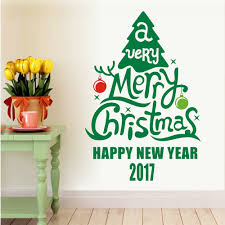 compare prices on christmas pvc tree online shopping buy low 40 60cm pvc wall decals merry christmas tree wall stickers decoration decal window stickers home