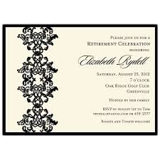 retirement invitations celebrating ornamental black retirement invitations paperstyle