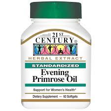 Evening Primrose Oil For Hair Loss 21st Century Evening Primrose Oil Standardized 60 Softgels