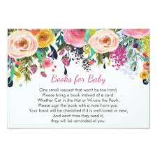 bring a book instead of a card baby shower books for baby floral bring a book insert card zazzle