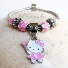 european style charm bracelet images Pink hello kitty charm bracelet large hole beads on european jpg