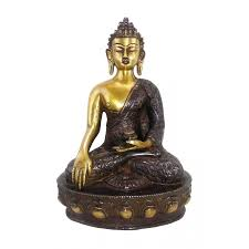 dragon carving bronze buddha sakyamuni statue