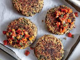 quinoa cuisine spinach quinoa cakes with bell pepper relish recipe myrecipes
