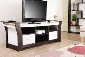 Tv Stand Desk by Amazon Com Iohomes Torena Multi Storage Tv Stand Black And White