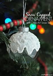 decoart snow capped ornament a owl