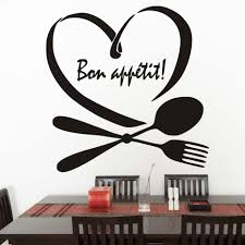 popular bon appetit wall stickers buy cheap bon appetit wall fashion home decor spoon folk heart pattern diy kitchen vinyl self adhesive stickers phrase words bon