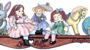 on the shelf doll doll shelf wallpaper border wallpaper border wallpaper inc