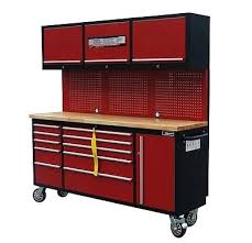 Rolling Tool Chest Work Bench Tool Boxes 72quot Mechanic Red Black Tool Chest Wood Top
