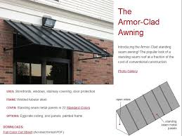 Cost Of Awnings Aluminum Standing Seam Awning Low Maintenance Awnings
