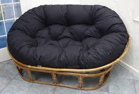 Swingasan Cushion by Furniture Black Rattan Swingasan Chair With Floral Seat Cushion