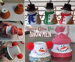 terra cotta pot snowman craft 112 stunning decor with winter craft