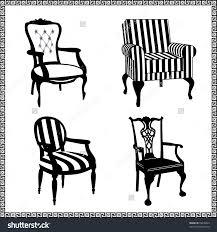 Affordable Furniture Los Angeles Antique Furniture Stock Vectors Vector Clip Art Shutterstock Set