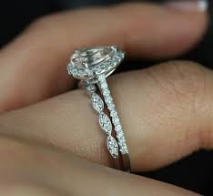 what wedding band for with a pear shaped ring weddingbee