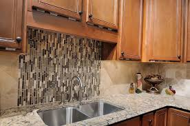 kitchens with mosaic tiles as backsplash kitchen modern kitchen with mosaic tile backsplash on one wall