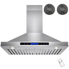Ventless Hood System Akdy 30 In Convertible Kitchen Wall Mount Range Hood In Stainless