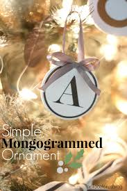 easy monogrammed ornaments sew woodsy