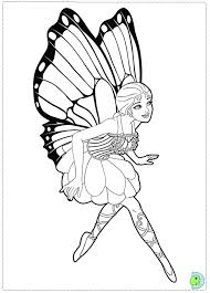 free barbie fairy coloring pages coloring