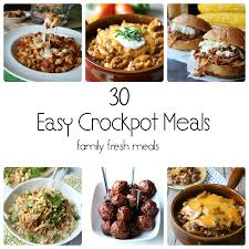Quick And Easy Main Dish Dinner Ideas Southern Living 30 Easy Crockpot Recipes Family Fresh Meals