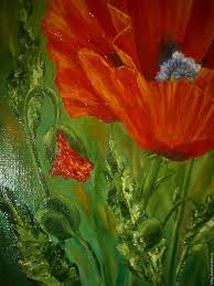 poppies flowers painting bright poppies canvas poppies flowers shop