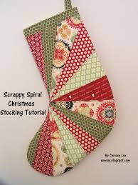 sew lux fabric blog scrappy spiral stocking tutorial