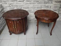 solid oak coffee table and end tables solid wood bombay tables secondhand pursuit