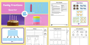 ks1 fractions quarters video teaching ideas and activity pack